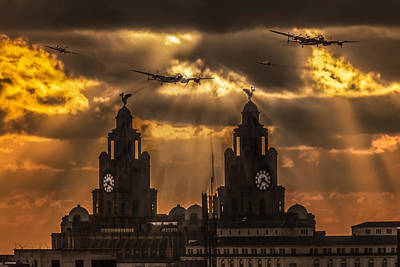 Warbirds And Liver Birds Poster by Paul Madden