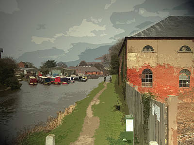 Warehouse And Barges On The Trent And, The Derwent Valley Poster