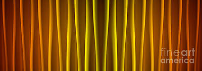 Warm Curtain Poster