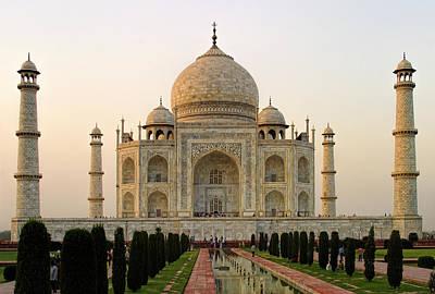 Warm Evening View Taj Mahal Poster