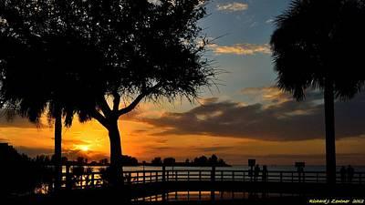 Warm Glowing Sunset Poster by Richard Zentner