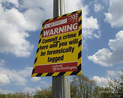 Warning Sign: Forensic Tagging Poster by Robert Brook