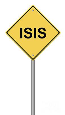 Warning Sign Isis Poster by Henrik Lehnerer