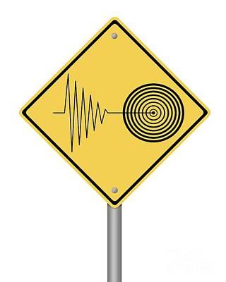 Warning Sign Tremor Poster