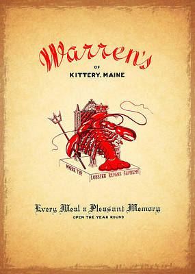 Warrens Maine 1950s Poster