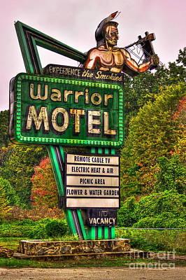 Warrior Motel Great Smokey Mountains Poster by Reid Callaway