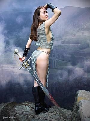 Warrior Ruins Poster