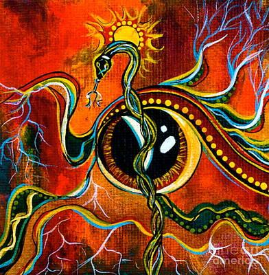 Warrior Spirit Eye Poster