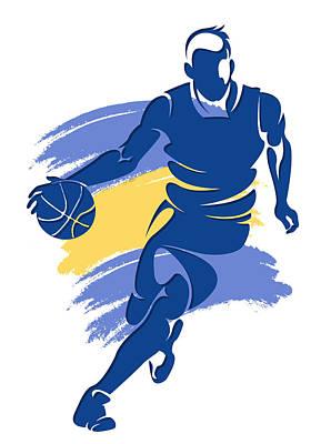 Warriors Basketball Player6 Poster by Joe Hamilton