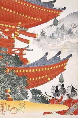 Warriors Depart Poster by Japanese School
