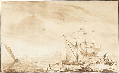 Warship At The Beach, Jurriaan Cootwijck Poster