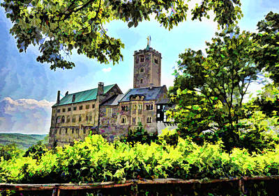 Poster featuring the photograph Wartburg Castle - Eisenach Germany - 1 by Mark Madere