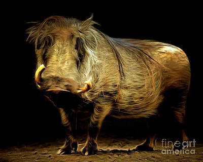 Warthog 20150210brun Poster by Wingsdomain Art and Photography