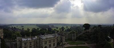 Warwick Castle Panorama Poster by Dan McManus