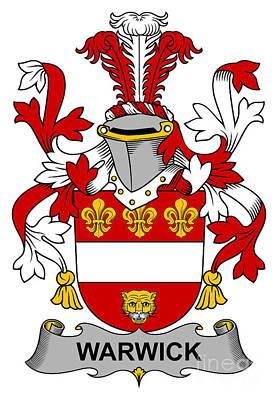 Warwick Coat Of Arms Irish Poster by Heraldry