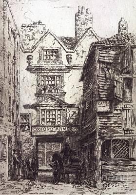 Warwick Lane, London, 19th Century Poster