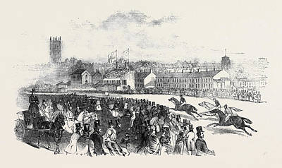Warwick Races Poster by English School