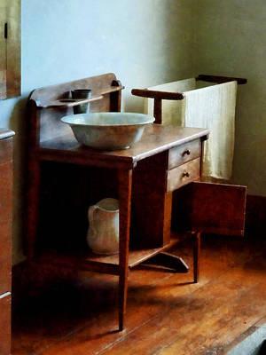 Wash Basin And Towel Poster by Susan Savad