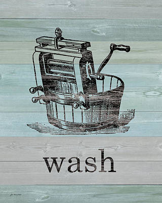 Wash On Wood Poster