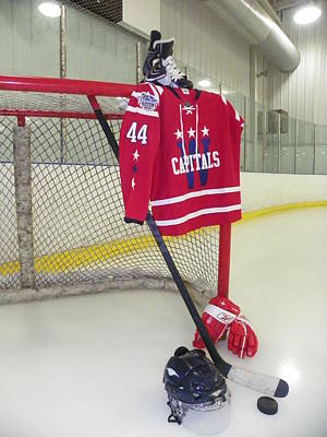 Washington Capitals Brooks Orpik Winter Classic 2015 Jersey Poster