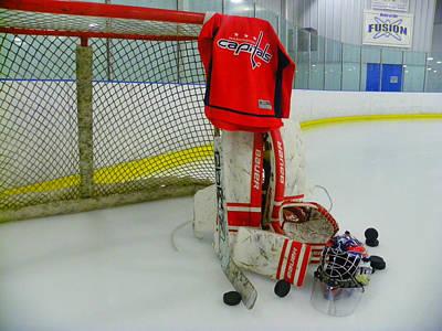 Washington Capitals Hockey Home Jersey  Poster by Lisa Wooten