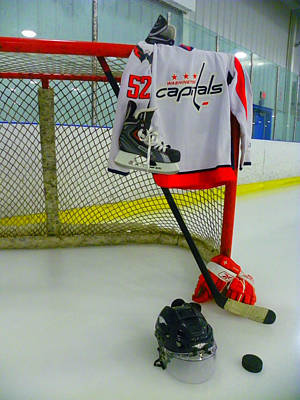 Washington Capitals Mike Green Away Hockey Jersey Poster