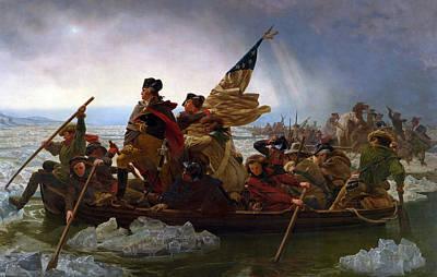 Washington Crossing The Delaware Poster by Emanuel Gottlieb Leutze