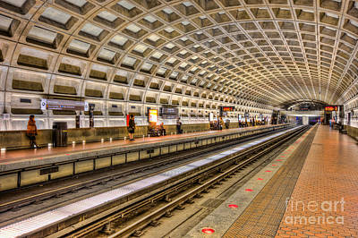 Washington Dc Metro Station Ix Poster by Clarence Holmes