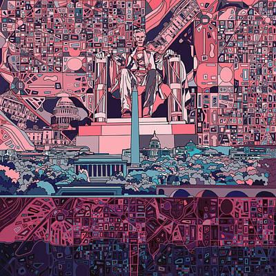 Washington Dc Skyline Abstract 2 Poster