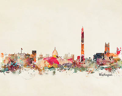 Washington Dc Skyline Poster by Bri B