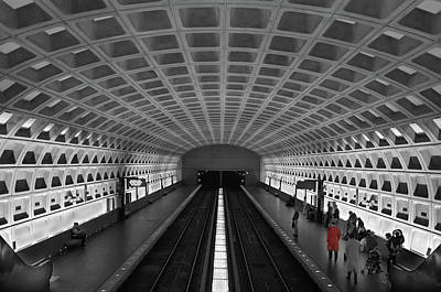 Poster featuring the photograph Washington Dc Subway by Geraldine Alexander