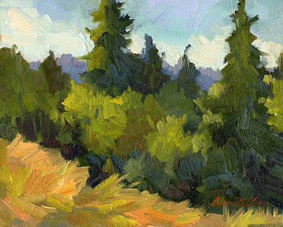 Washington Evergreens Poster by Diane McClary