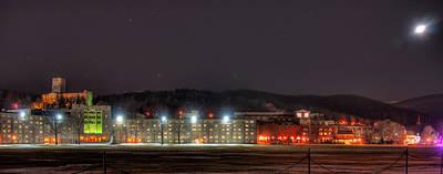 Washington Hall At Night Poster by Dan McManus