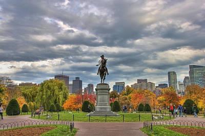 Washington In The Public Garden Poster