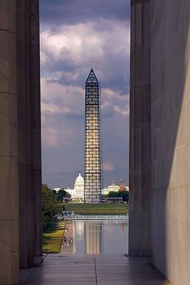 Washington Monument And Capitol 2 Poster by Stuart Litoff