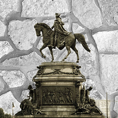 Washington Monument At Eakins Oval Poster by Trish Tritz