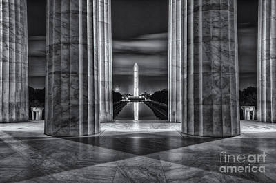 Washington Monument From Lincoln Memorial II Poster by Clarence Holmes
