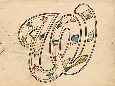 Washington Nationals Logo Vintage Poster