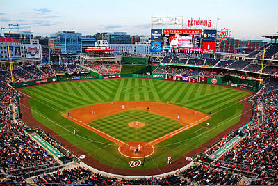Washington Nationals Park Poster by James Kirkikis