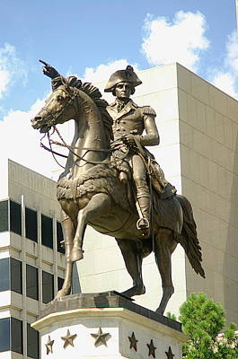 Washington On His Horse Poster