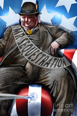 Washington Sitting Down On The Job Poster