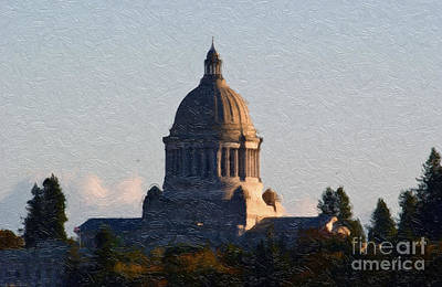 Washington State Capitol II Poster