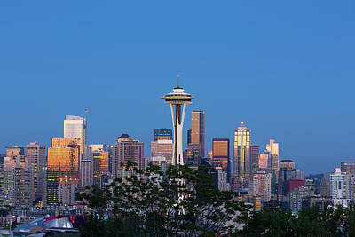 Washington State, Seattle, Skyline View Poster