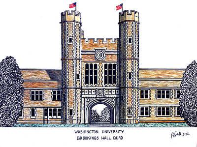 Washington University St Louis Poster by Frederic Kohli