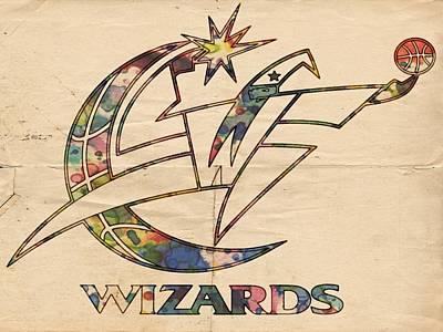 Washington Wizards Poster Art Poster by Florian Rodarte