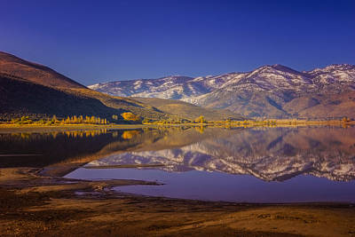 Washoe Lake In Late Fall Poster by Janis Knight