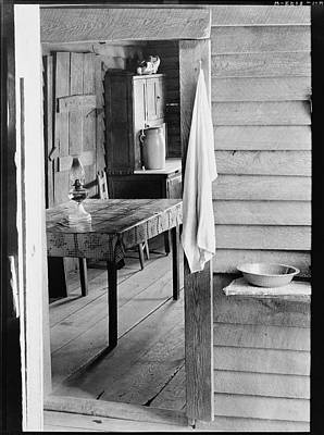 Washstand In The Dog Run And Kitchen Of Floyd Burroughs Cabin. Poster by Historic Photos