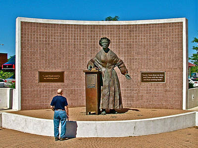 Wasp Learns The Truth From Sojourner Truth In Monument Park In Battle Creek-mi  Poster by Ruth Hager