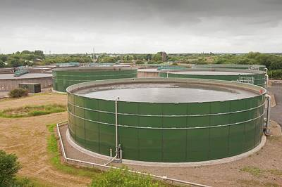 Wastewater Tanks At Sewage Plant Poster by Ashley Cooper