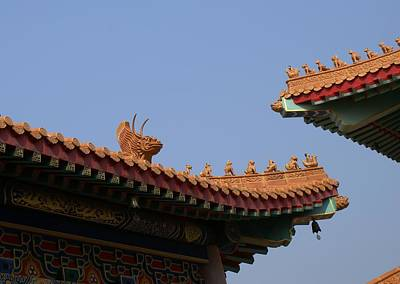 Wat Borom Roof Sculpure Poster